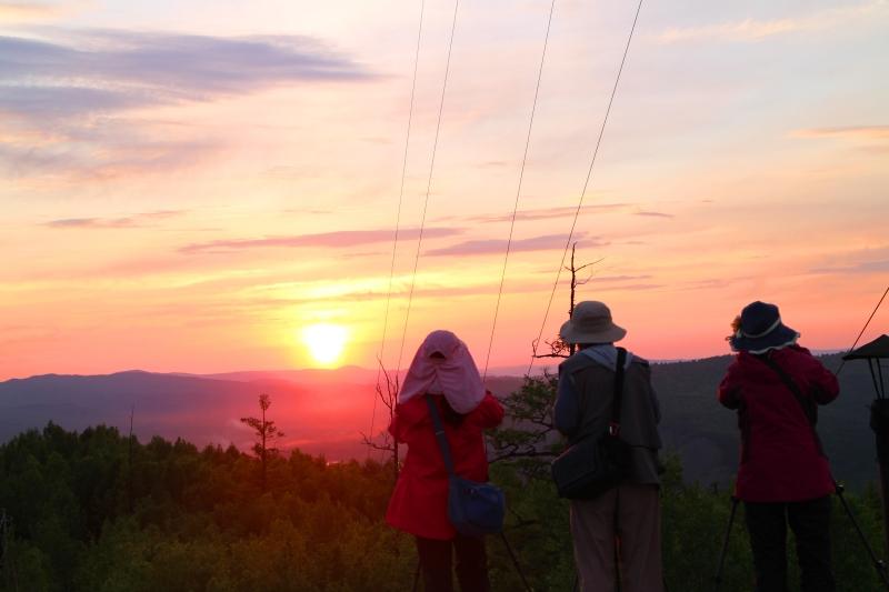 龙岩山日落