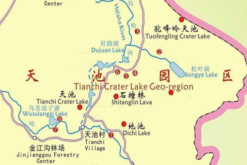 阿尔山国家森林公园观光线路图