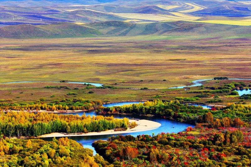 额尔古纳湿地秋色