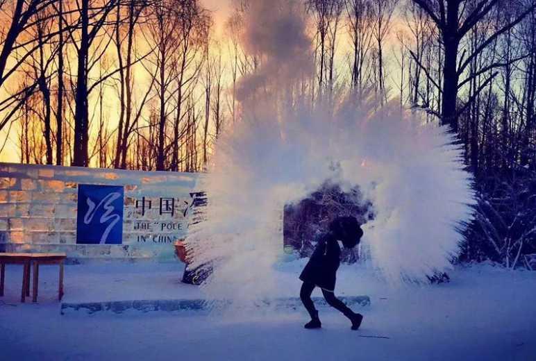 撒欢呼伦贝尔中国冷极村户外冰雪2日体验游