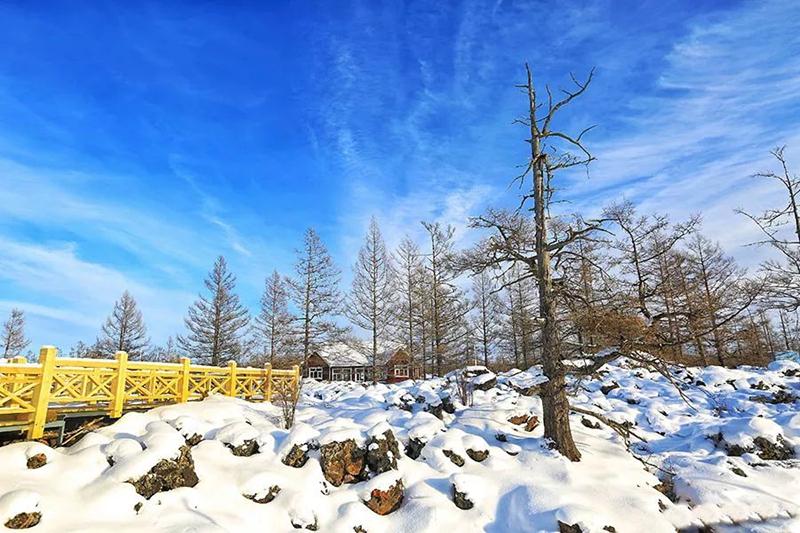 阿尔山石塘林冬季风光