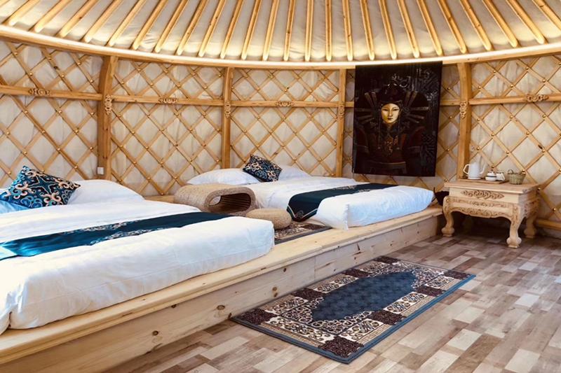 木雕蒙古包