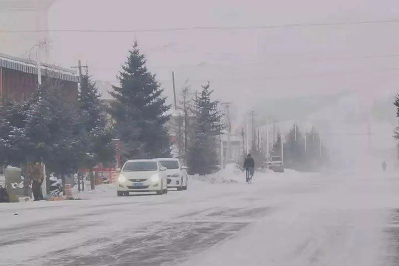 内蒙古呼伦贝尔根河市迎来今冬最低气温零下44.6℃